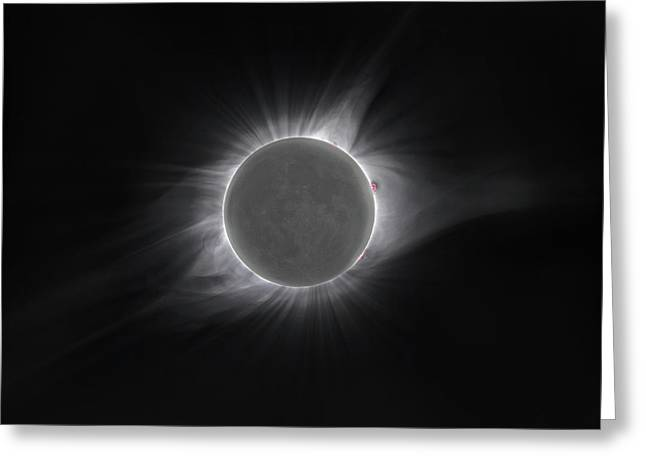 2017 Eclipse And Earthshine Greeting Card