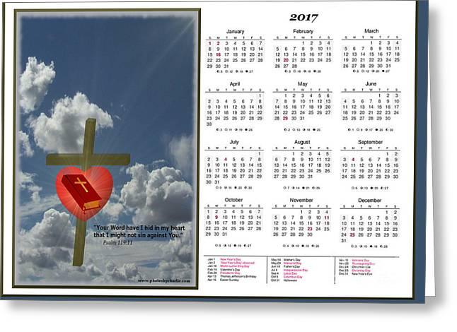 2017 Inspirational Calendar - 2 Greeting Card