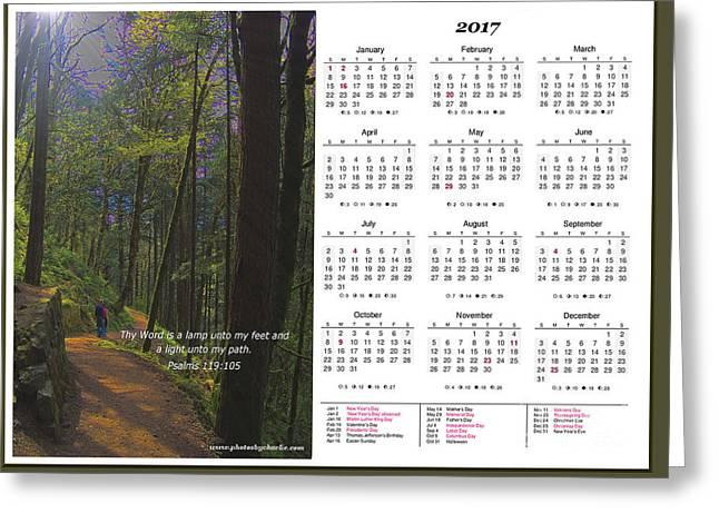 2017 Inspirational Calendar - 3 Greeting Card