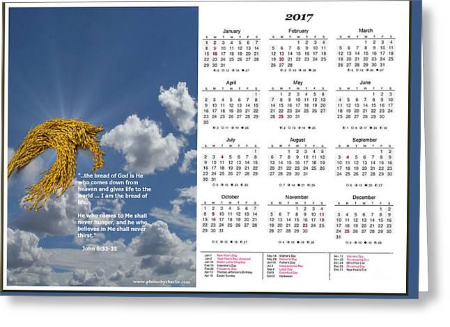 2017 Inspirational Calendar - 4 Greeting Card