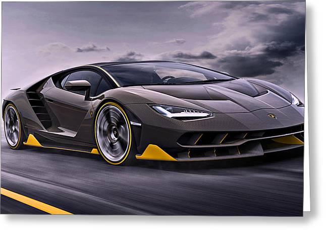 2017 Lamborghini Centenario Greeting Card