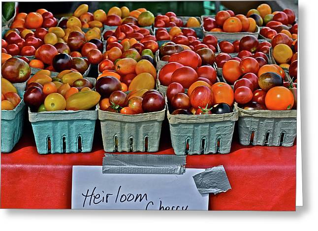 2017 Monona Farmers' Market August Heirloom Cherry Tomatoes Greeting Card