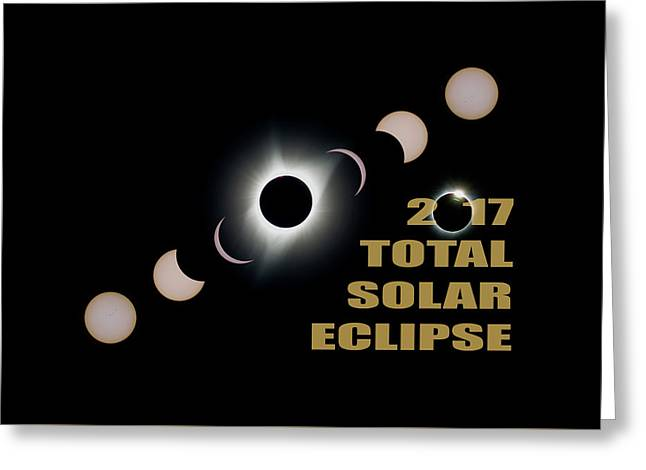 2017 Total Solar Eclipse Phases Greeting Card
