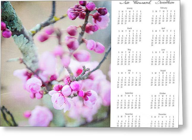 2017 Wall Calendar Cherry Blossoms Greeting Card by Ivy Ho