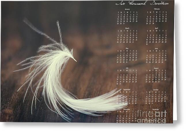 Greeting Card featuring the photograph 2017 Wall Calendar Feather by Ivy Ho