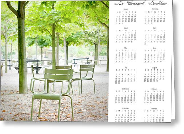 Greeting Card featuring the photograph 2017 Wall Calendar Paris by Ivy Ho