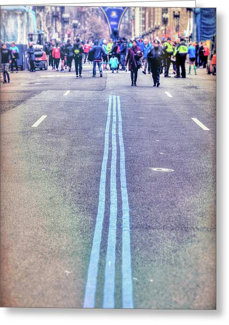 Greeting Card featuring the photograph 2018 Boston Marathon Scenes by Joann Vitali
