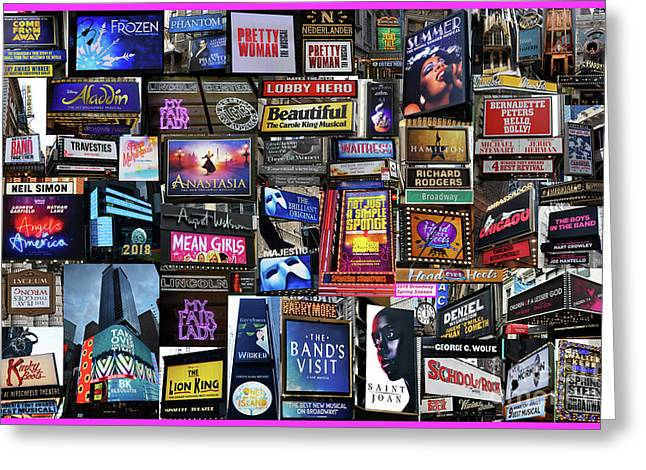2018 Broadway Spring Collage Greeting Card
