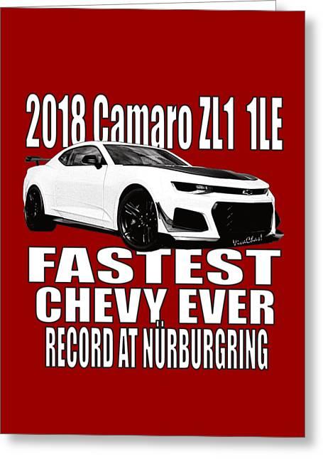 2018 Camaro Zl1 1le Greeting Card