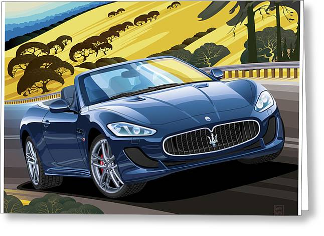2018 Maserati Granturismo Convertible Greeting Card