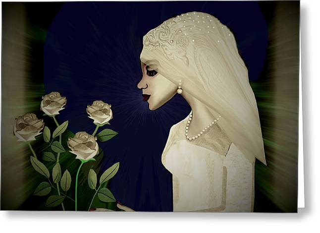 202 - Shy  Bride  2017 Greeting Card