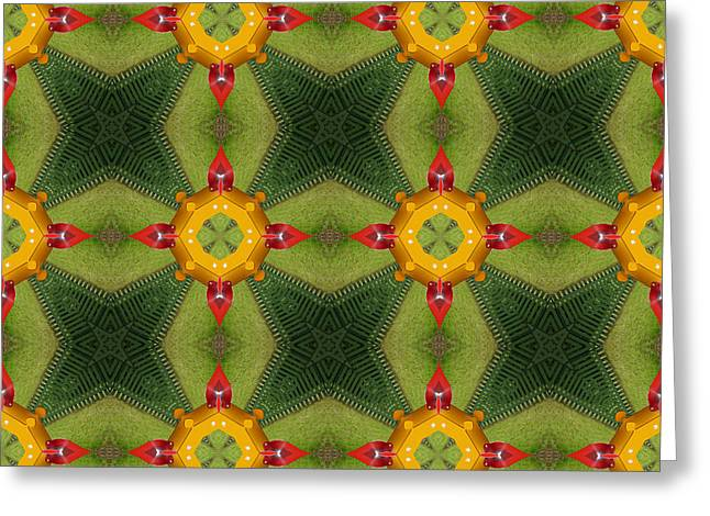 Kaleidoscopic Ornaments Greeting Card