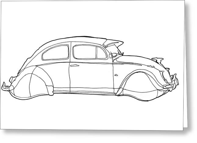 2069 Volkswagen Beetle Greeting Card by Nate Petterson