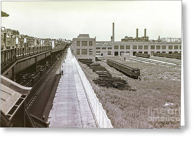 207th Street Subway Yards Greeting Card