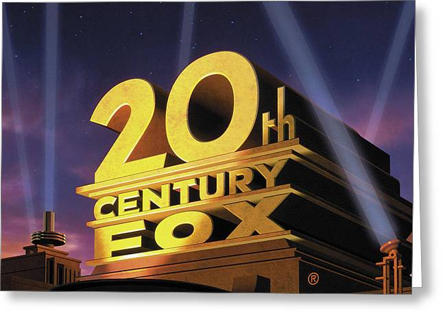 20th Century Fox Logo Greeting Card