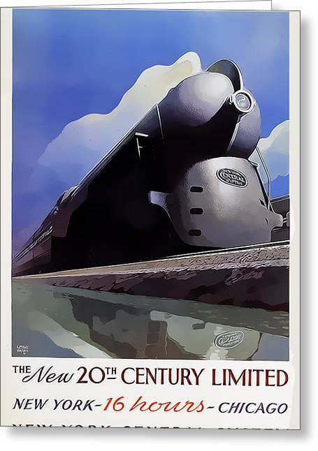 20th Century Limited Greeting Card by Chuck Staley