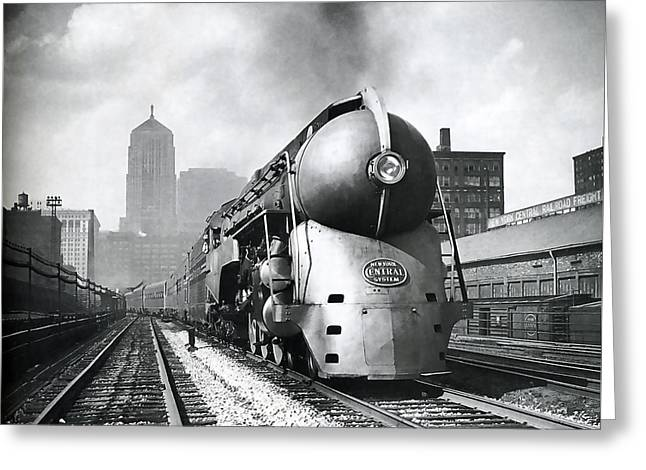 20th Century Limited Streamlined Train  1939 Greeting Card