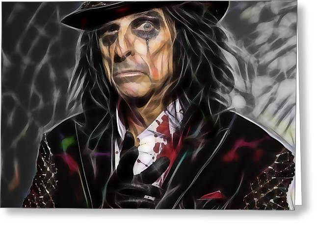 Alice Cooper Collection Greeting Card