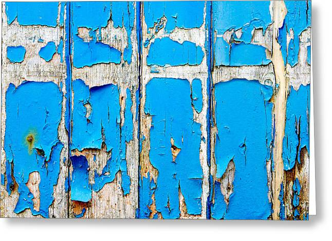 Blue Wood Greeting Card