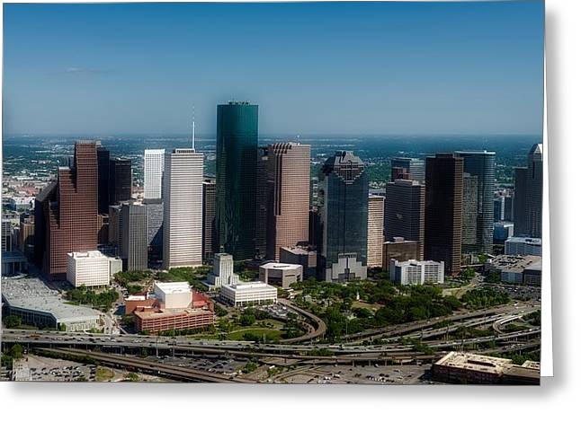 Houston Skyline Greeting Card by Mountain Dreams