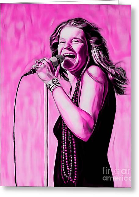 Janis Joplin Collection Greeting Card
