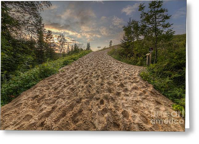 Sleeping Bear Point Trail Greeting Card by Twenty Two North Photography