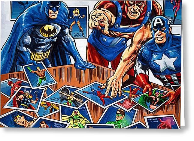 Superhero Art Greeting Card by Egor Vysockiy