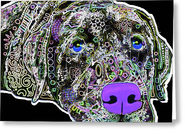 210b Labrador By Nixo Greeting Card by Nicholas Nixo