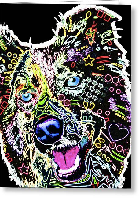 210f Border Collie By Nixo Greeting Card