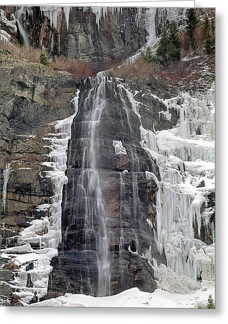 212m40 Bridal Veil Falls Utah Greeting Card