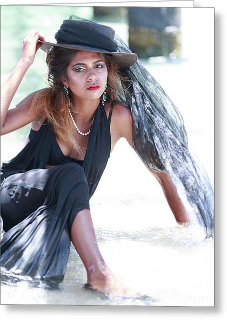 Fashionably At The Beach Various Magazines Usa Greeting Card
