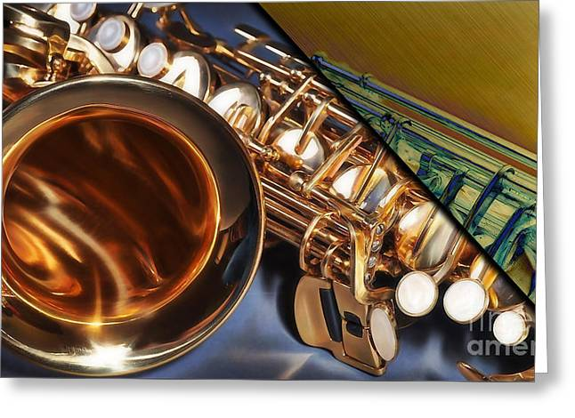 Saxophone Collection Greeting Card