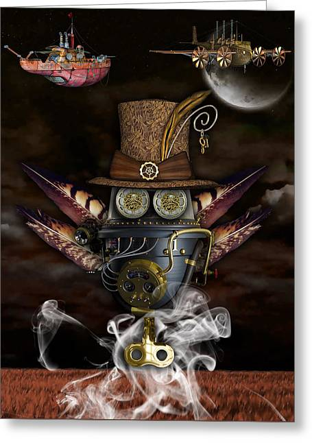 Steampunk Art Greeting Card by Marvin Blaine