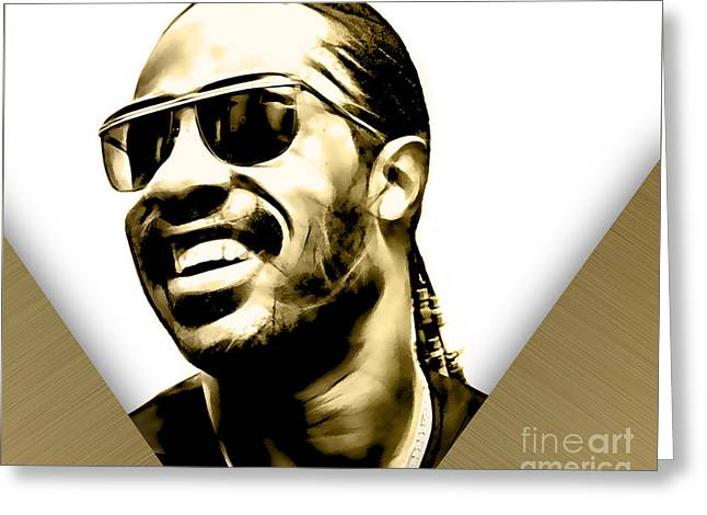 Stevie Wonder Collection Greeting Card by Marvin Blaine