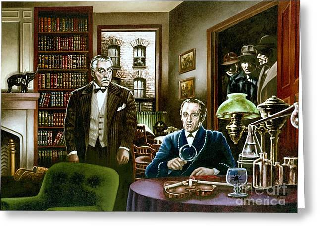 221 B Baker Street Greeting Card by Michael Frank