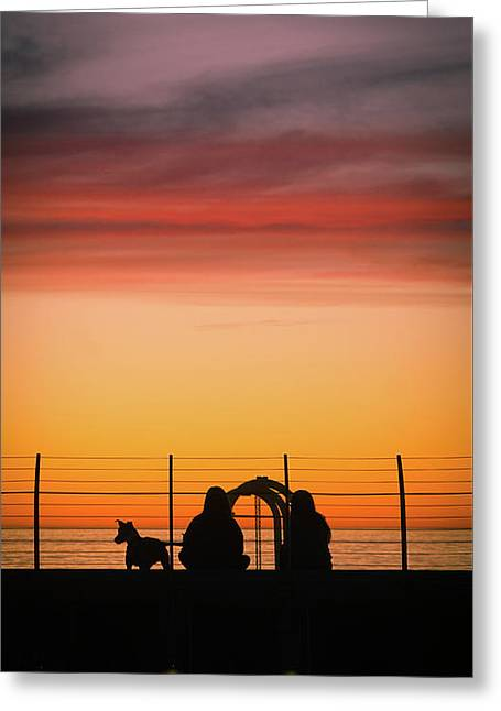 22nd St Sunset Greeting Card
