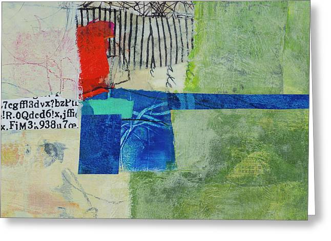 Greeting Card featuring the mixed media 23 by Elena Nosyreva