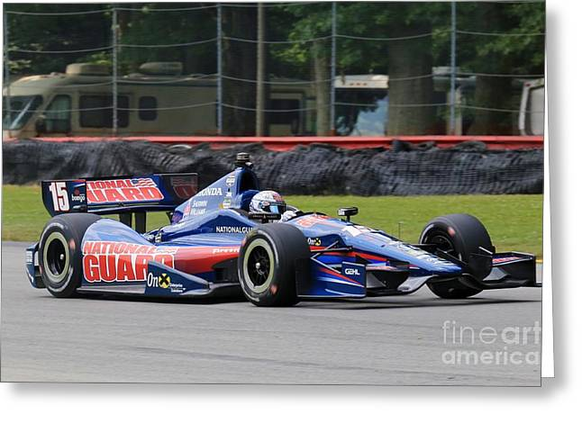 High Speed Indycar Racing Greeting Card by Douglas Sacha