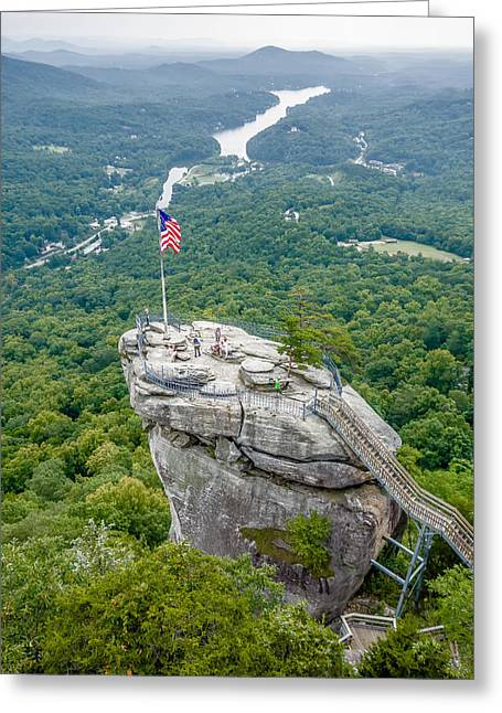 Lake Lure And Chimney Rock Landscapes Greeting Card