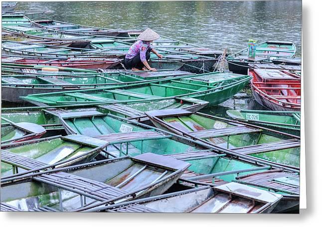 Ninh Binh - Vietnam Greeting Card by Joana Kruse