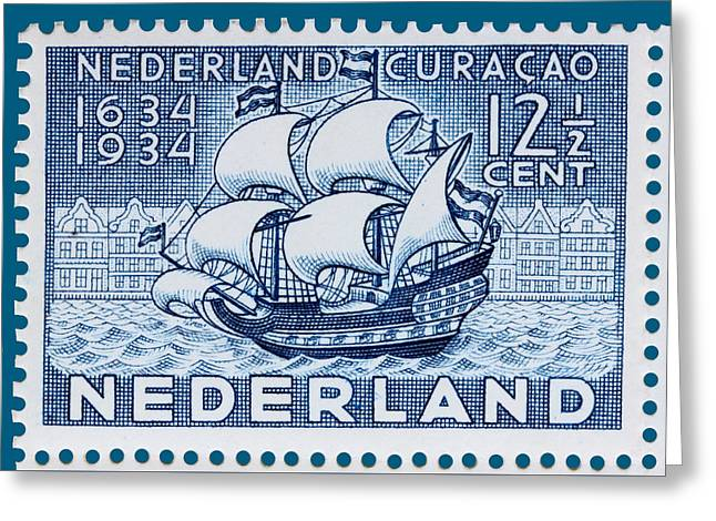Old Dutch Postage Stamp Greeting Card by James Hill