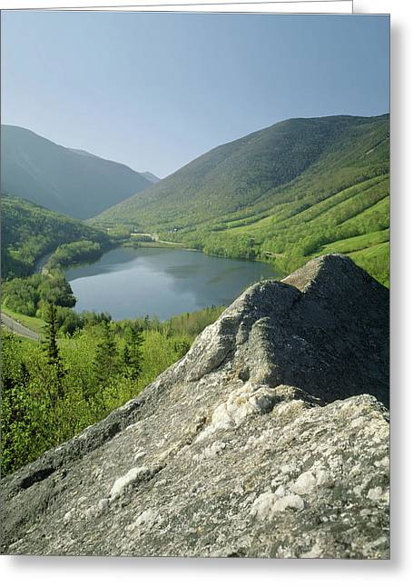 Greeting Card featuring the photograph 235601 Echo Lake Cannon Mountain Nh by Ed Cooper Photography