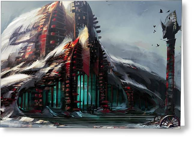 23743 Video Games Guild Wars 2  Greeting Card by F S