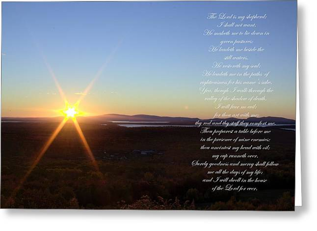 Greeting Card featuring the photograph 23rd Psalm by Greg DeBeck