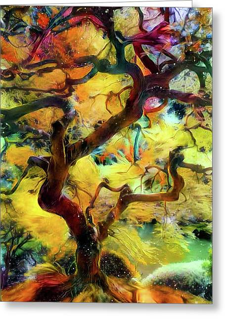 Abstract Japanese Maple Tree Greeting Card