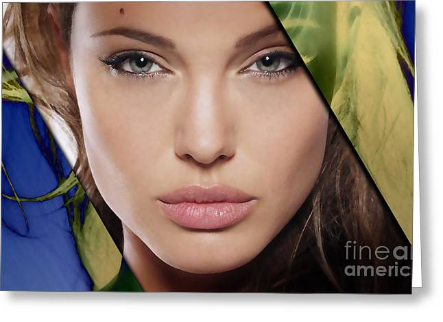 Angelina Jolie Collection Greeting Card by Marvin Blaine