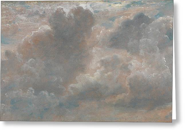 Cloud Study Greeting Card by John Constable