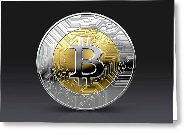 Cryptocurrency Physical Coin Greeting Card