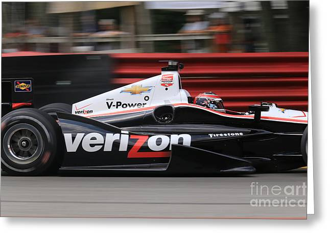 Indianapolis 500 Indycar Racing Greeting Card by Douglas Sacha
