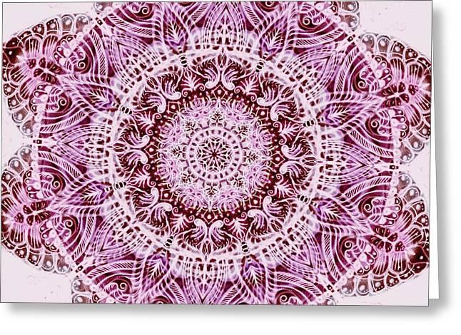 Mandala  Greeting Card by Sandrine Kespi